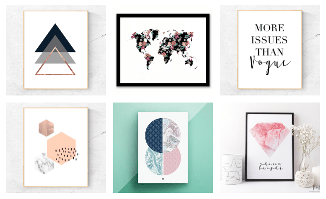 12 Creative Prints To Decorate Your Walls For Free graphic