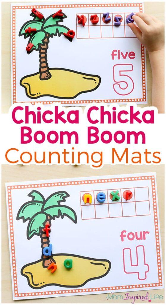 chicka chicka boom boom palm tree template - chicka chicka boom boom printables