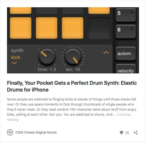 Elastic Drums by MoMinstruments | MoMinstruments