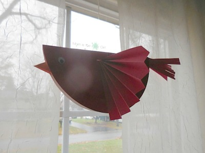 Red Cardinal Bird Craft for Stranger in the Woods https://momistheonlygirl.com
