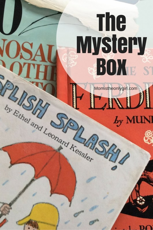 The Mystery Box - opening a mysterious box of books from childhood can ignite the imaginations of your kids! http://momistheonlygirl.com
