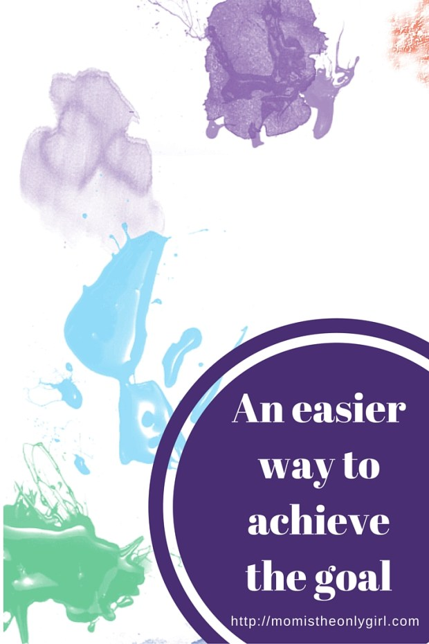 An easier way to achieve the goal using simple steps and mini-goals at http://momistheonlygirl.com