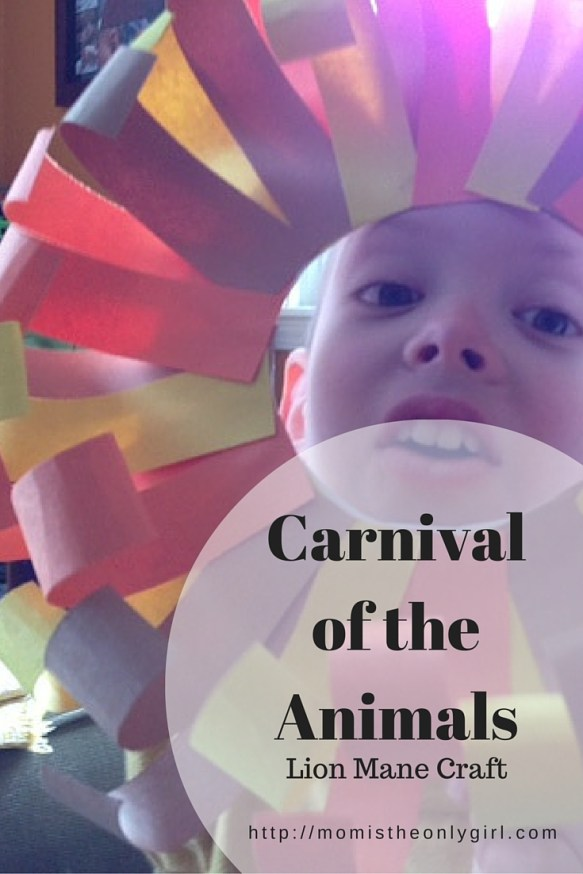 Carnival of the Animals lion's mane craft http://momistheonlygirl.com