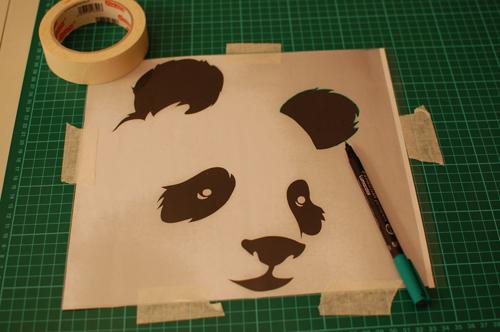 Diy tutorial plantilla para estarcido momita 39 s blog - Plantillas para pintar camisetas ...