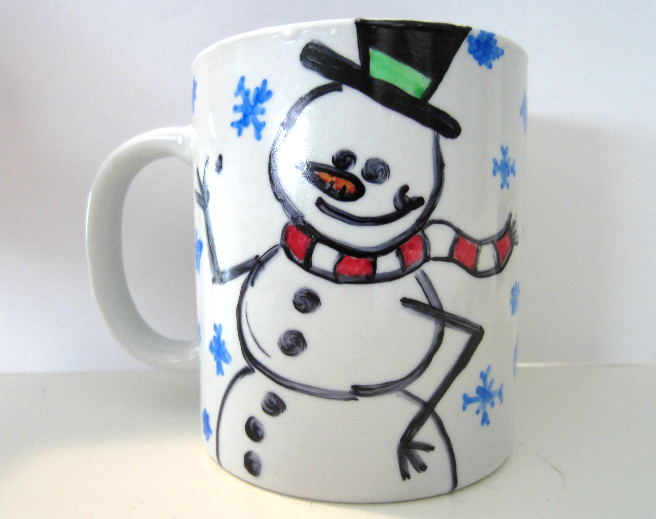 Craft How To Make Snowman Mugs For Wintermom It Forward