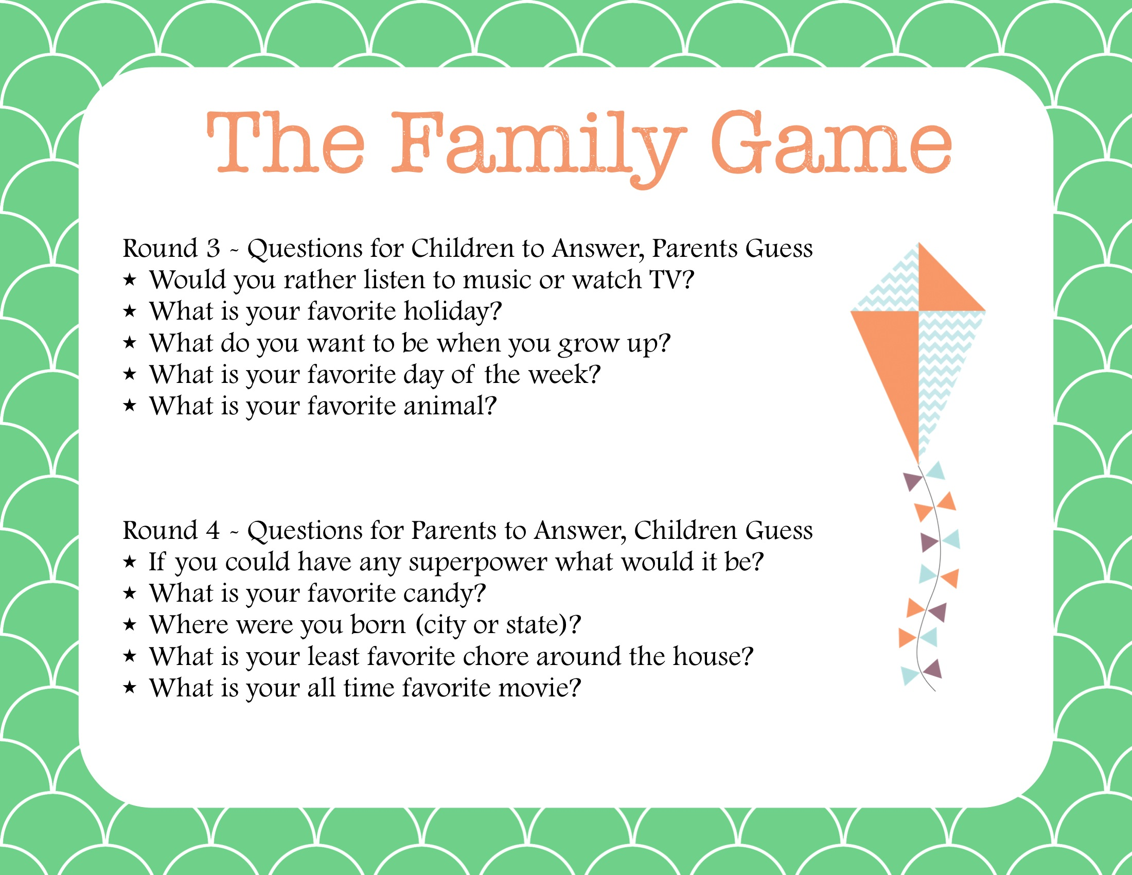 Family Fun The Newlywed Game For Families