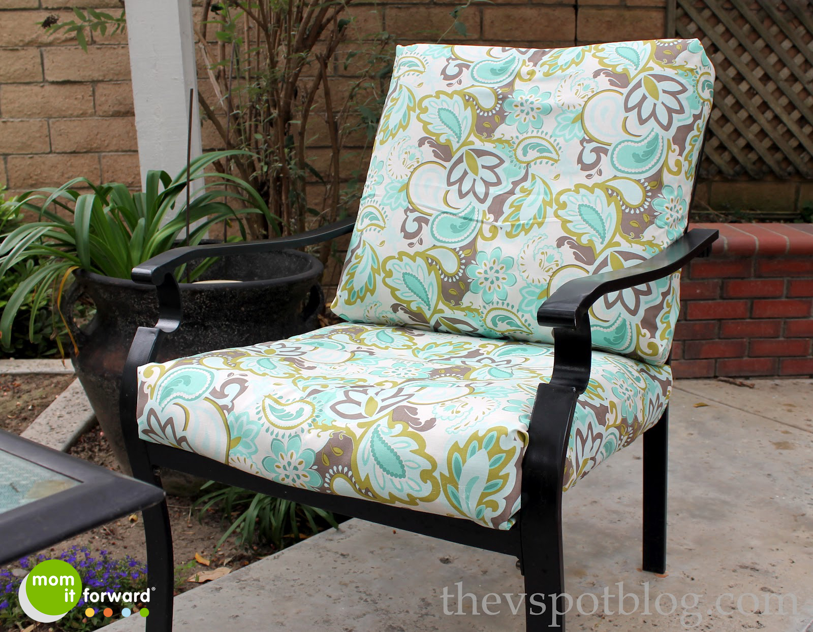 DIY: How To Recover Outdoor Furniture With A Glue Gun