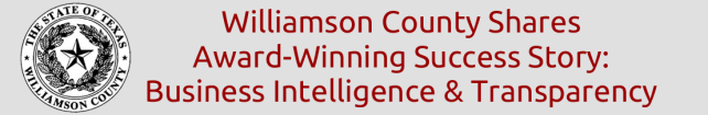 Williamson County Shares Award-Winning Success Story: Business Intelligence & Transparency
