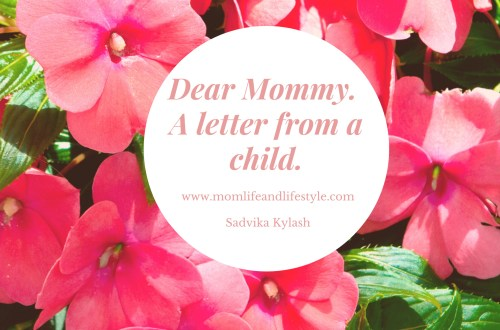 Dear Mommy. A letter from a child