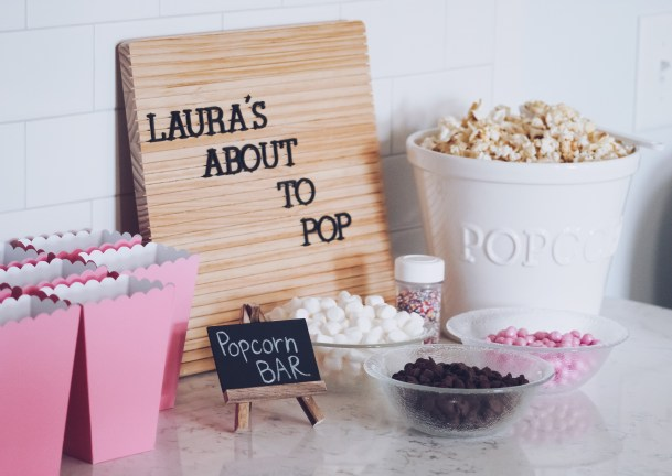 Shower For Baby Girl: Madison Popcorn Bar