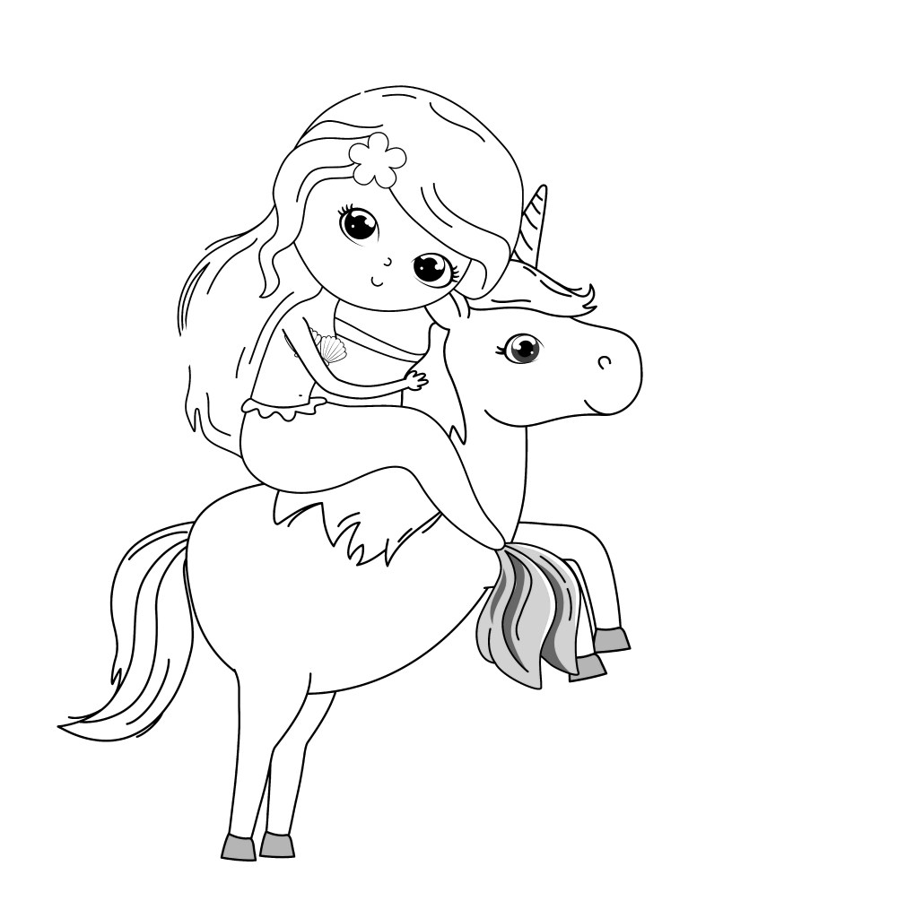 The Cutest Free Unicorn Coloring Pages Online - MomLifeHappyLife