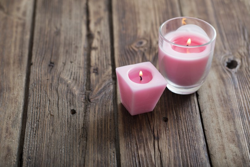 candles are a great way to engage in self care for busy moms