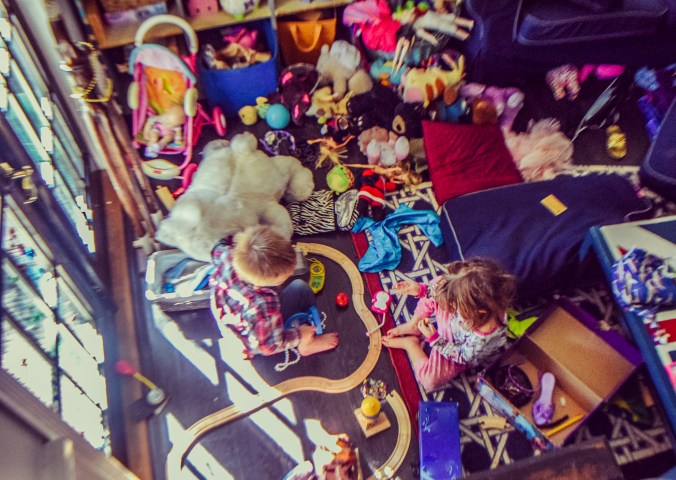 Messy playroom that needs to be cleaned