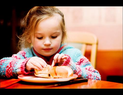 child eat