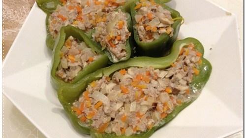 [P家廚房]青椒料理-青椒鑲肉食譜 9