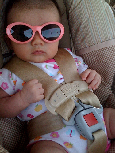 baby wearing glasses