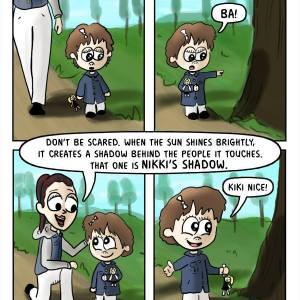 A Momma Braga Moment Captured on a Comic Strip