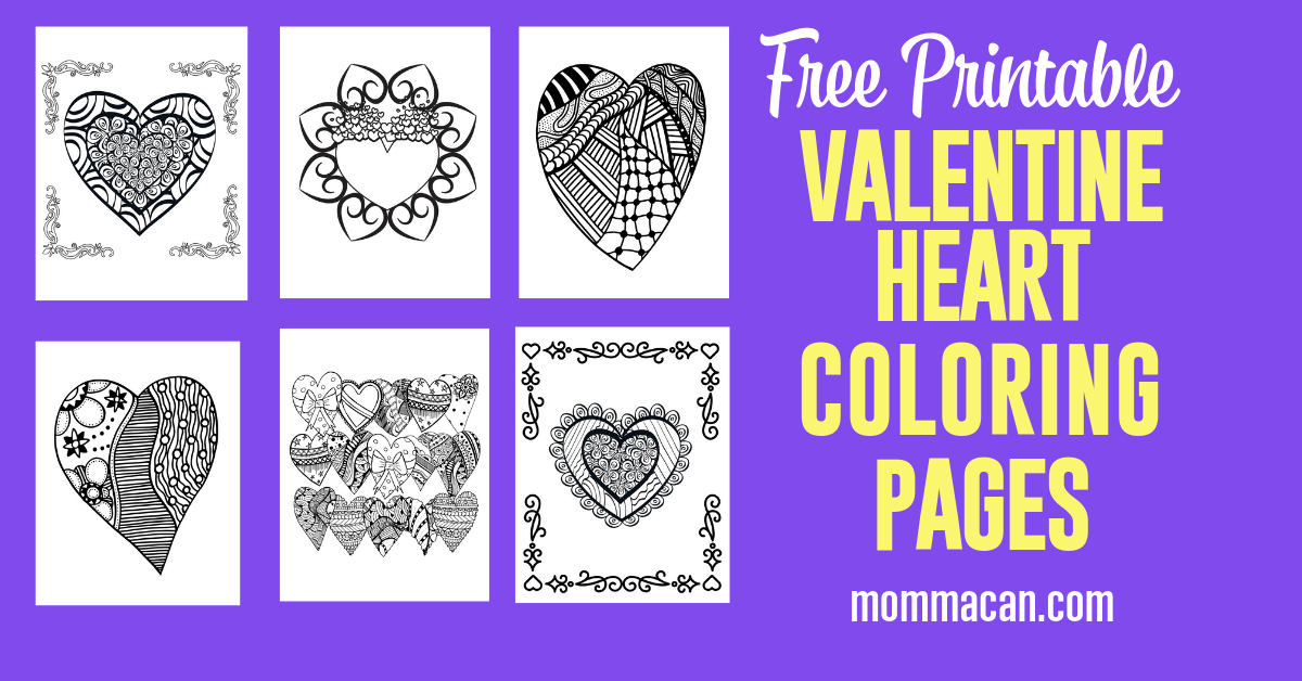 Free Printable Valentine Coloring Pages Hearts 2 Momma Can