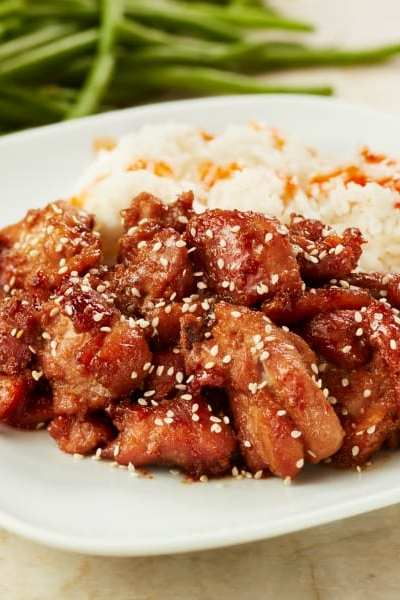 Delicious and Easy Bourbon Chicken
