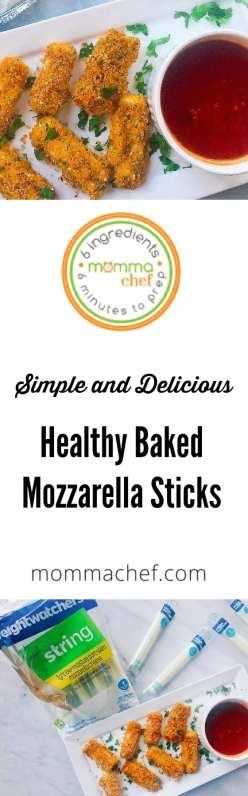 Quick and Easy Healthy Baked Mozzarella Sticks Recipe