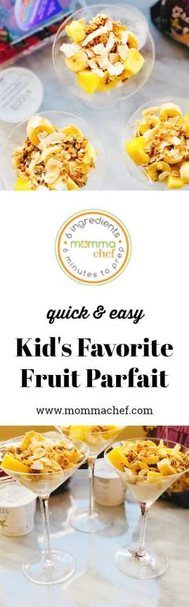 Quick and Easy Kids' Favorite Fruit Parfait