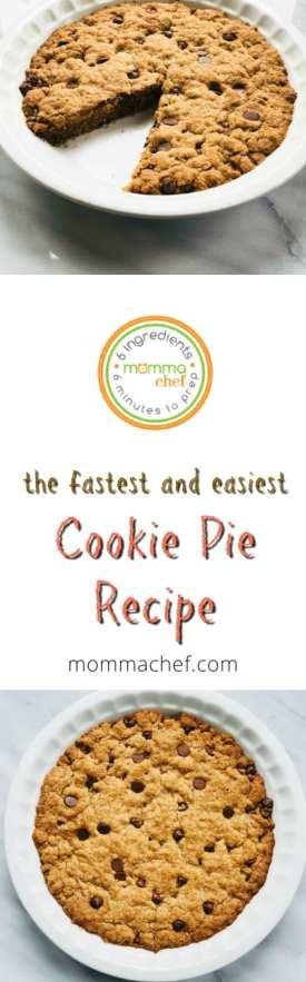 Quick and Easy Cookie Pie Recipe