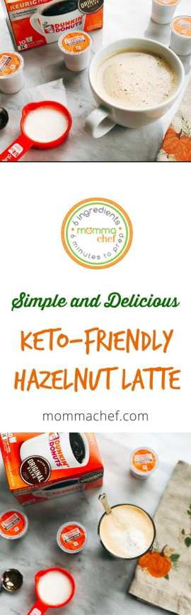 Keto Friendly Hazelnut Latte