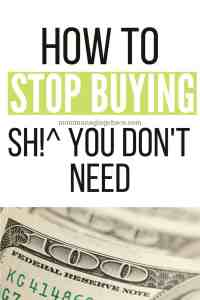 How to Fight the Urge to Spend Money
