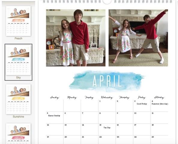 Watercolor Brush Grand Calendar