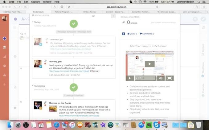 coschedulescreenshot1- tasks