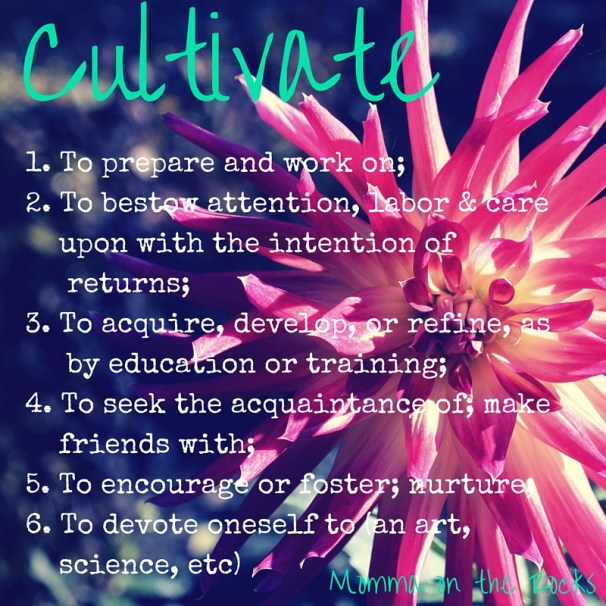 one-word-Cultivate
