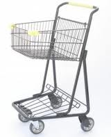 This is the size cart we use in the grocery.