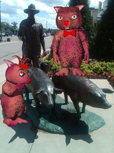 Wombies SPAM Museum hogs