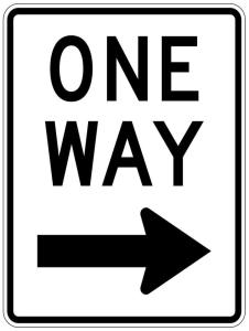 One Way Sign Right