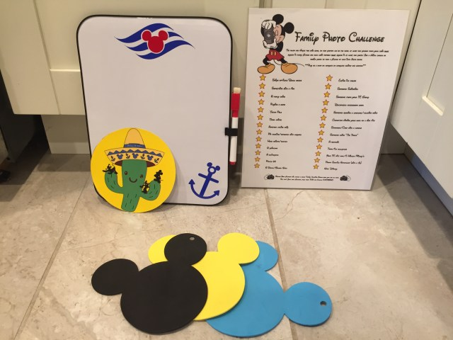White board, magnets, and games