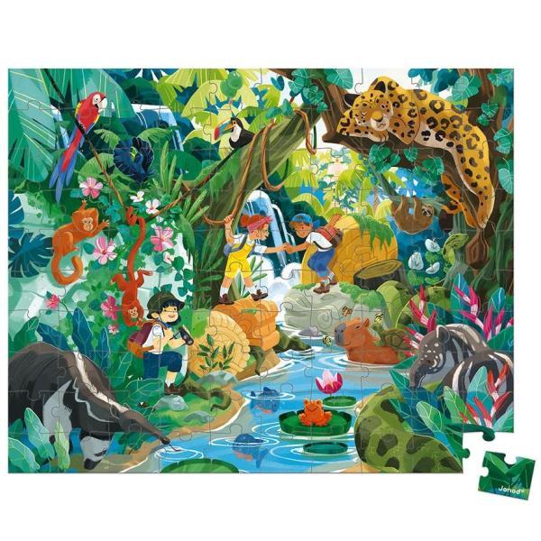 פאזלים פאזל 100 חלקים - הרפתקאת הג'ונגל - Mom & Me