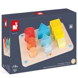 משחקי עץ צעצועי עץ - מיון צבעים ונפחים - Mom & Me