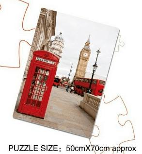 פאזל 1000 יחידות - תא טלפון בלונדון - Mom & Me