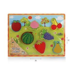 צעצועי עץ פאזל פירות - Mom & Me