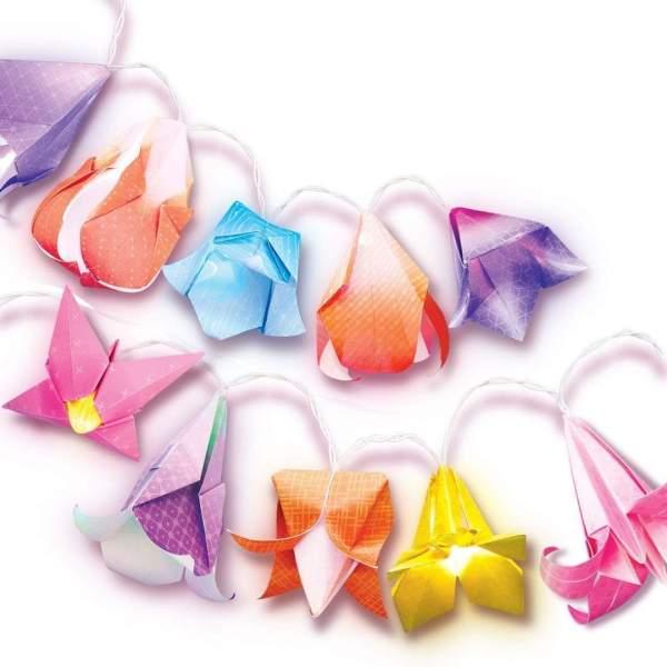 צעצועים גרלנדת פרחים אוריגמי - Mom & Me