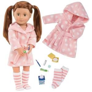 צעצועים חלוק ואביזרי הכנה לשינה לבובה - Mom & Me
