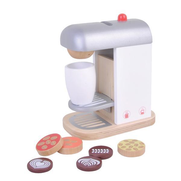 מוצרי עץ מכונת קפה מעץ - מונטסורי - Mom & Me