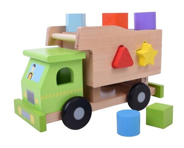 מוצרי עץ משאית התאם צורה מעץ - מונטסורי - Mom & Me