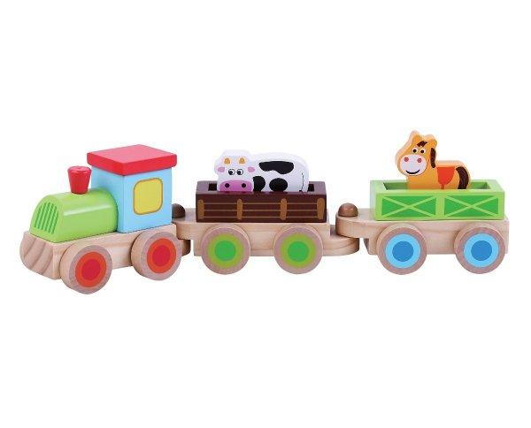 מוצרי עץ מיני רכבת מעץ - מונטסורי - Mom & Me