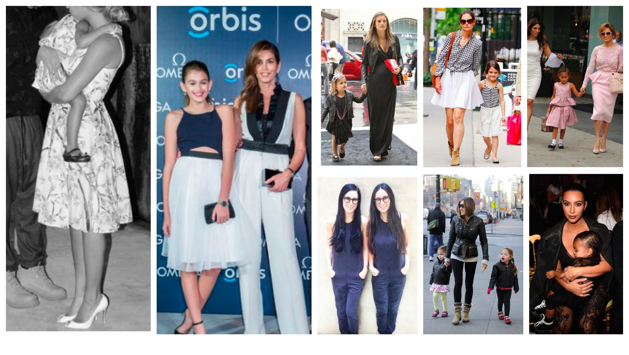 Celebrity Mother Daughter Matching Outfits