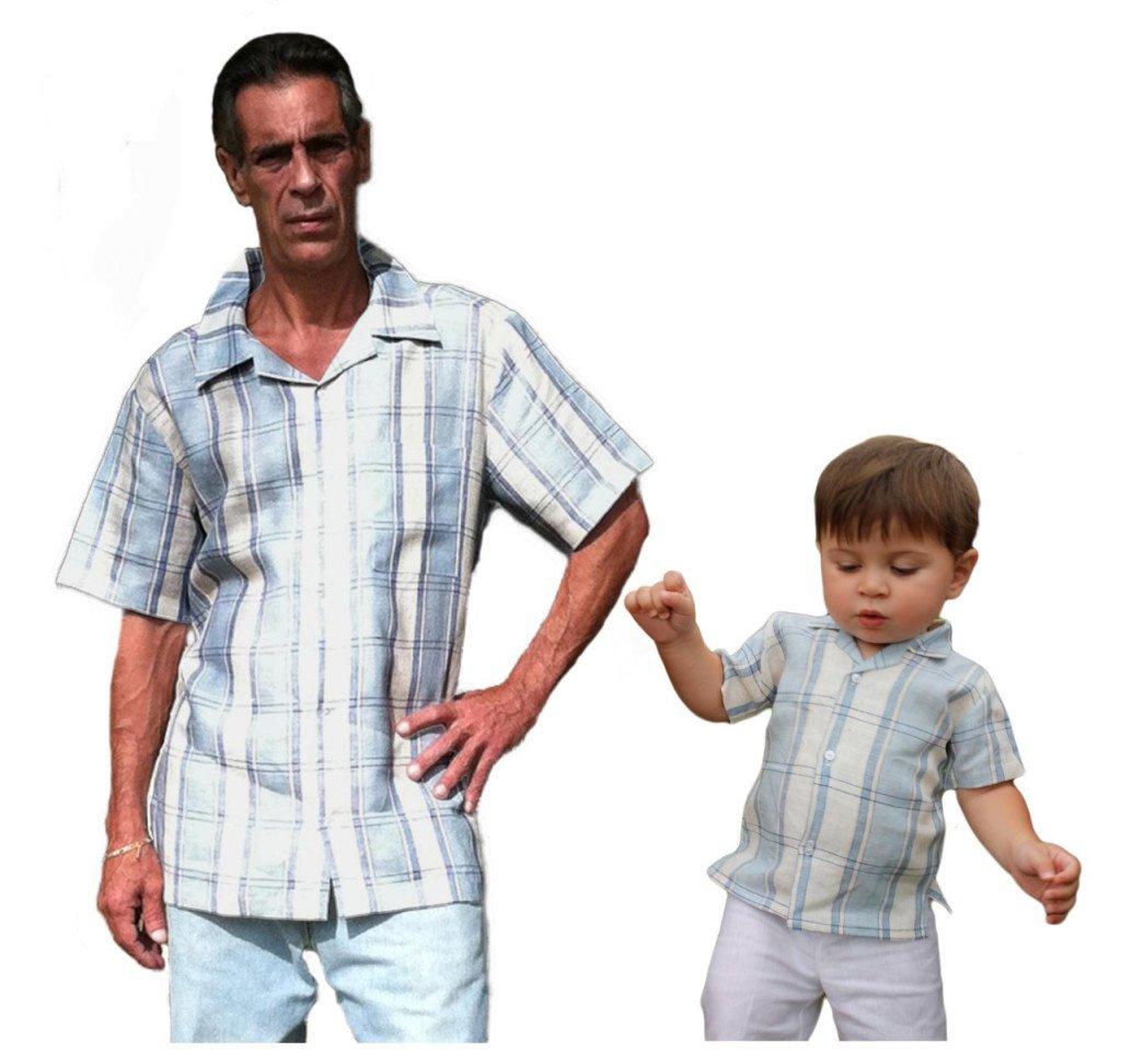 Father Son Matching Linen Shirts Guayabera Wedding