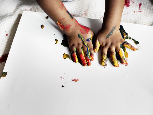 Fingerpainting - MommiNation- Summer Activities Bucketlist