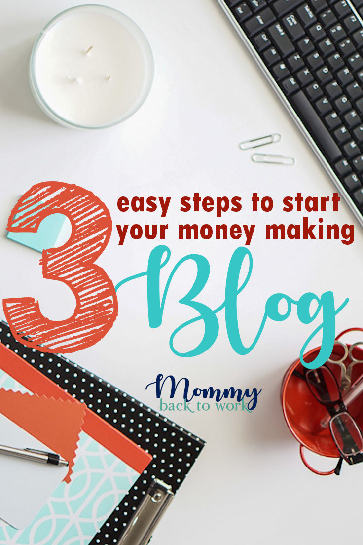 Here's an easy guide for how to start a blog in 3 easy steps. Start a money making blog today! It's the perfect step by step guide for beginners wanting to learn how to start blogging and make money. #blog