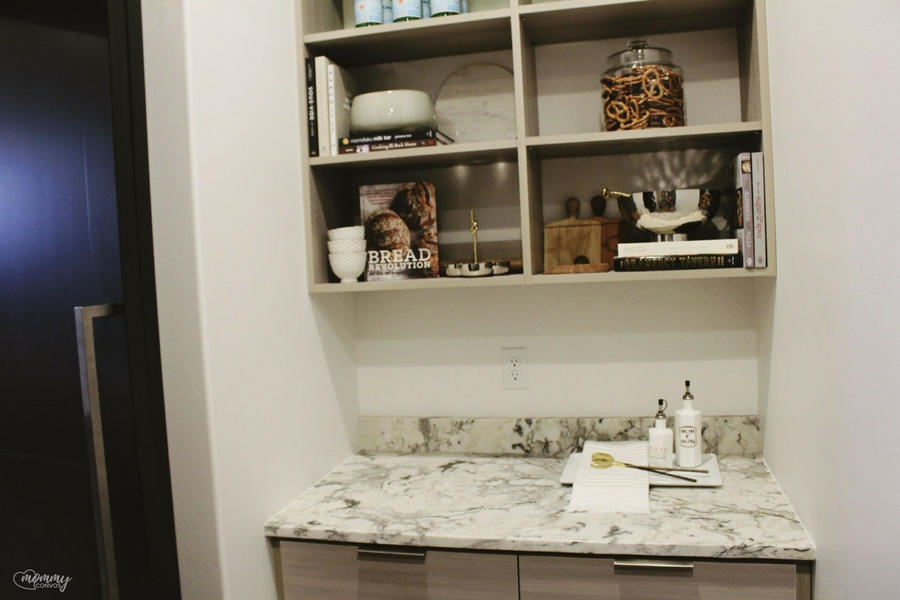 Luxury pantry ideas. Marble countertops. Parade of homes 2017 tour. Young mom's look at the st george parade of homes. 2017 Parade of homes.