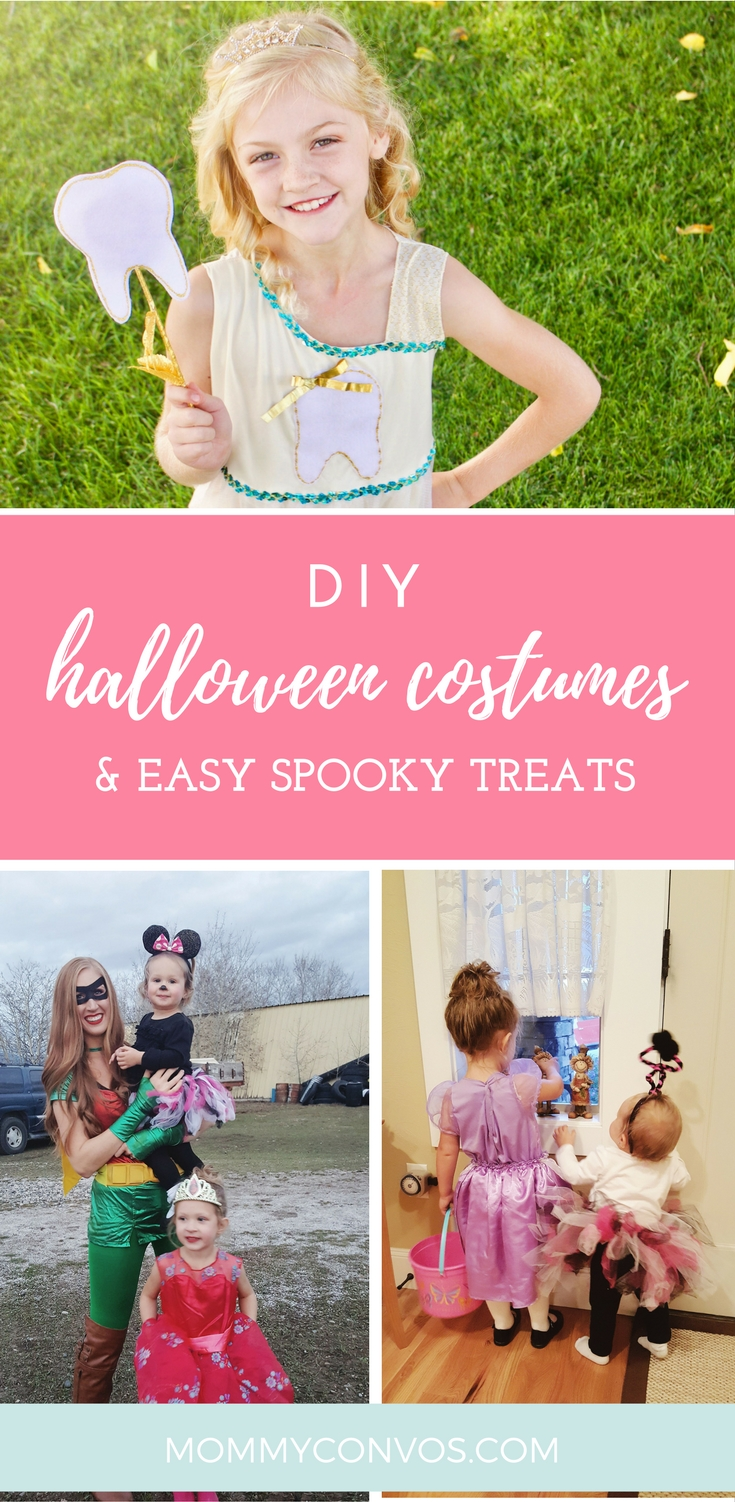 Halloween treats. Easy DIY costumes for the whole family. DIY costumes on a budget.